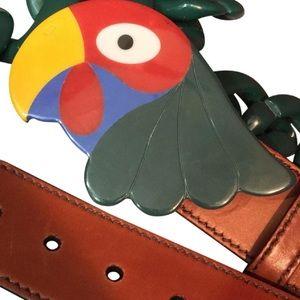 Prada Runway Parrot Belt/Multi Accessory Necklace